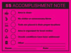 - 5S Accomplishment Report Label