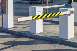 - Gate Arm Sign: Yellow/Black Stripes