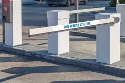 - Gate Arm Sign: One Vehicle At A Time