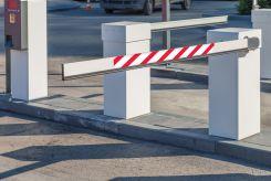 - Gate Arm Sign: Red/White Stripe
