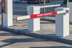 - Gate Arm Sign: Security Checkpoint