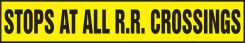 - Safety Label: Stops At All R.R. Crossings