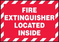 - Safety Label: Fire Extinguisher Located Inside