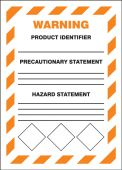 - GHS Secondary Container Labels: Warning (Diamonds at bottom border)