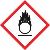 - GHS Pictogram Label: Flame Over Circle