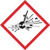 - GHS Pictogram Label: Exploding Bomb