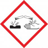 - GHS Pictogram Label: Corrosion