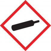 - GHS Pictogram Label: Gas Cylinder