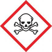 - GHS Pictogram Label: Skull & Crossbones