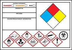 - GHS/NFPA/WHMIS Secondary Label