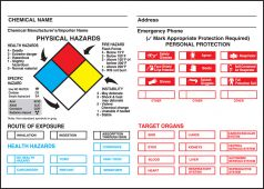 - Safety Label: NFPA Chemical Identification Label