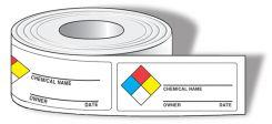 - NFPA Diamond Identifier Roll Labels: Chemical Identifier