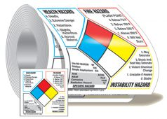 - NFPA Classification Diamond Roll Label