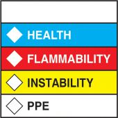 - HMCIS Safety Label: Health Flammability Instability PPE
