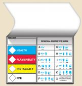 - Self-Laminating HMCIS Safety Label: Health Flammability Instability PPE