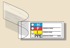 - Self-Laminating HMCIS Safety Labels
