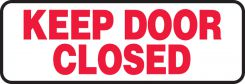 - Safety Sign: Keep Door Closed (4