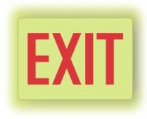 - Lumi-Glow Plus™ Safety Sign: Exit