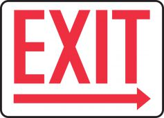 - Safety Sign: Exit (Right Arrow Below)