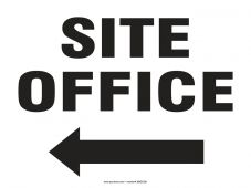 - Safety Sign: Site Office (Left Arrow)