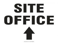 - Safety Sign: Site Office (Up Arrow)