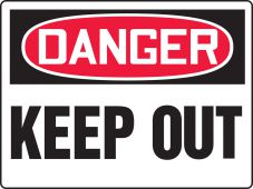 - Really BIGSigns™ OSHA Danger Safety Sign: Keep Out