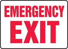 - Safety Sign: Emergency Exit