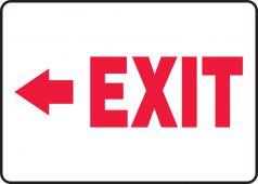 - Safety Sign: Exit (Left Arrow)