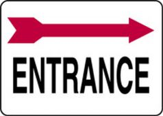 - Safety Sign: Entrance (Right Arrow Above)
