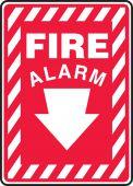- Safety Sign: Fire Alarm (Down Arrow)
