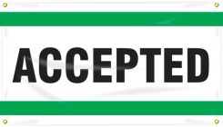 - Quality Control Ceiling Banner: Accepted