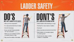 - Motivational Banner: Ladder Safety Do's - Dont's