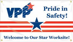 VPP Banners - VPP Banners: Pride In Safety - Welcome To Our Star Worksite