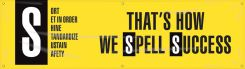 - 6S Motivational Banner: That's How We Spell Success