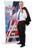 - Portable Banner Stands: Vertical Banner Stands