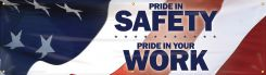 - Motivational Banner: Pride In Safety - Pride In Your Work