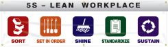 - 5S Banner: 5S - Lean Workplace