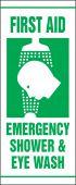 - First Aid Safety Banner: Emergency Shower & Eye Wash