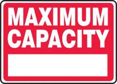 - Safety Sign: Maximum Capacity