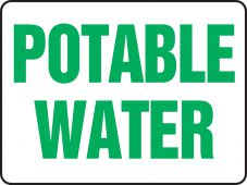 - Safety Sign: Potable Water