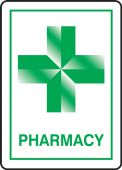 - Safety Sign: Pharmacy (White Background)