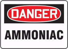- BILINGUAL FRENCH SIGN – AMMONIA