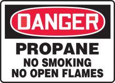 - OSHA Danger Safety Sign: Propane- No Smoking- No Open Flames