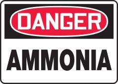 - OSHA Danger Safety Sign: Ammonia