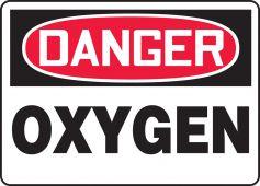 - OSHA Danger Safety Sign: Oxygen