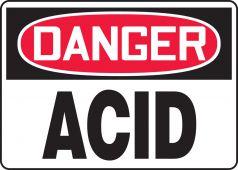 - OSHA Danger Safety Sign: Acid