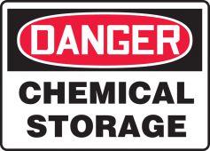 - OSHA Danger Safety Sign: Chemical Storage