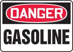 - OSHA Danger Safety Sign: Gasoline