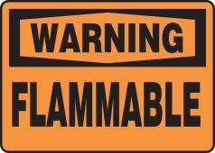 - OSHA Warning Safety Sign: Flammable
