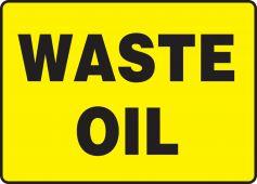 - Safety Sign: Waste Oil